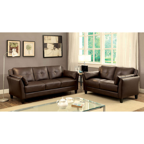YSABEL Brown Sofa + Love Seat, Brown image