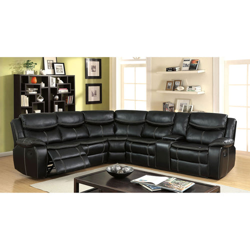 GATRIA II Black Sectional w/ Console image