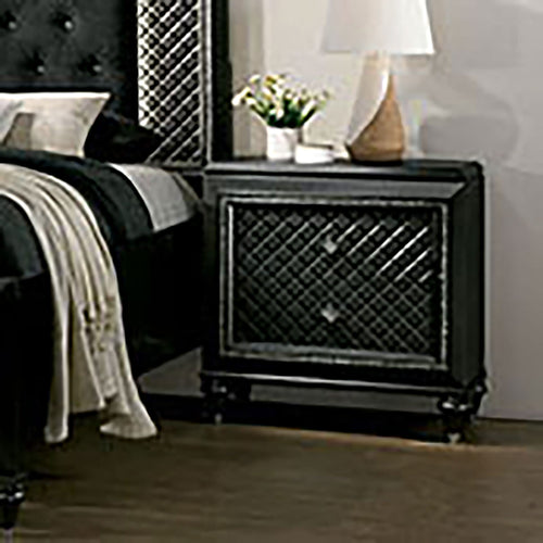 Demetria Metallic Gray Night Stand image