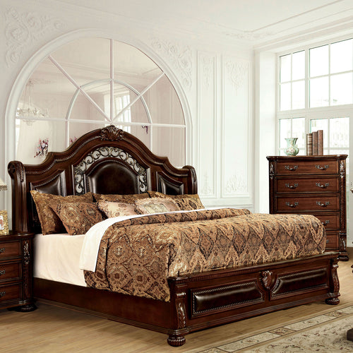 Flandreau Brown Cherry/Espresso Queen Bed image