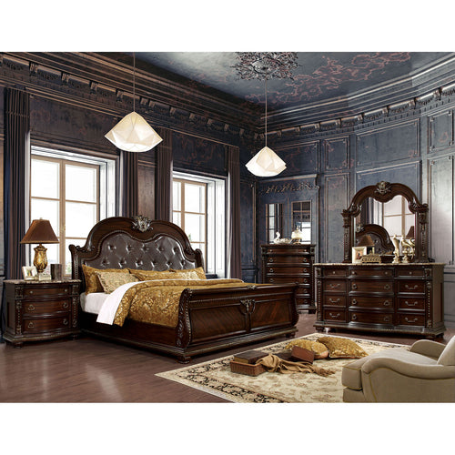 Fromberg Brown Cherry 5 Pc. Queen Bedroom Set w/ 2NS image