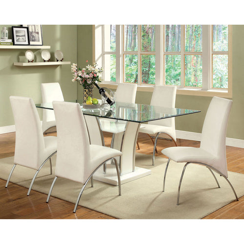 Glenview White/Chrome Dining Table image