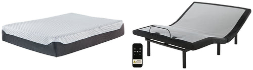 12 Inch Chime Elite Sierra Sleep by Ashley Queen Adjustable Base with Mattress