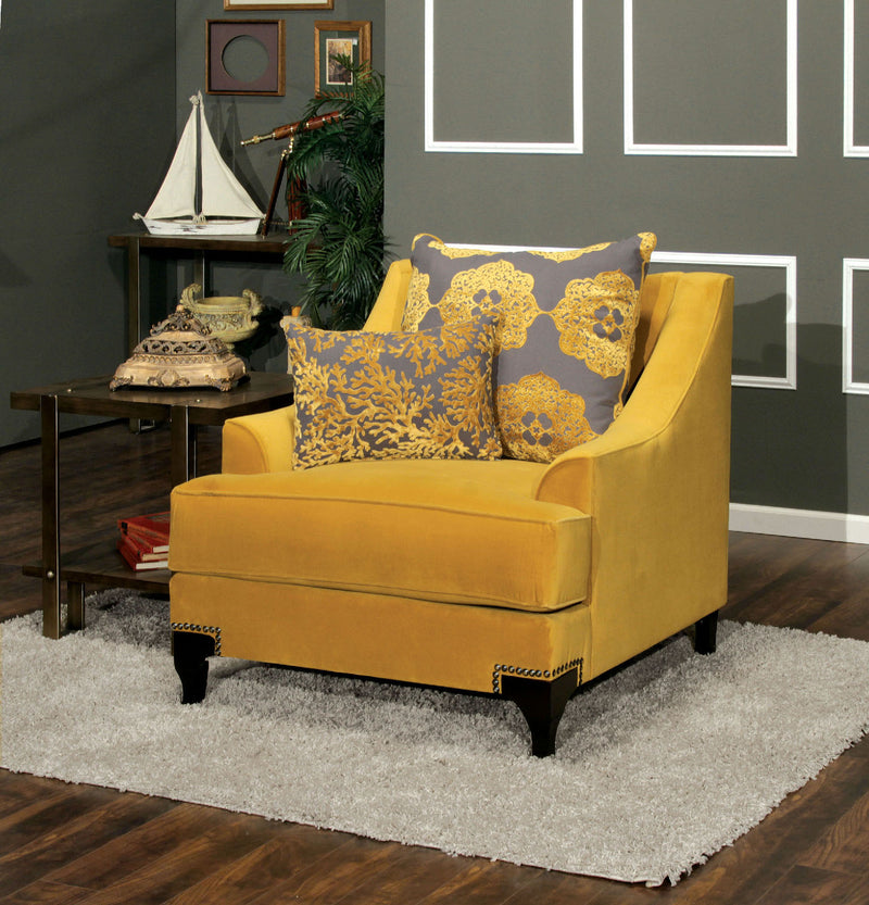 Wolver Gold/Gray Chair, Gold image