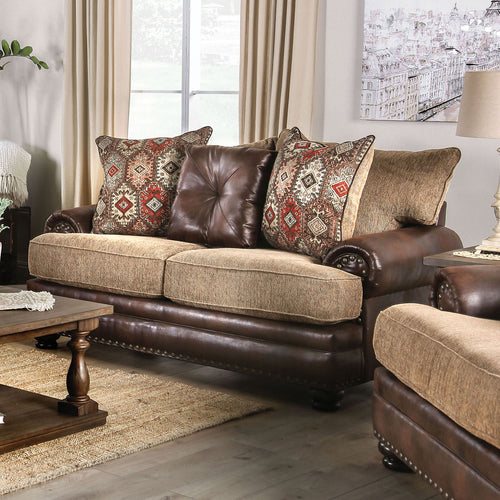Fletcher Brown/Tan Love Seat image