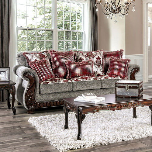 Whitland Light Gray/Red Sofa image