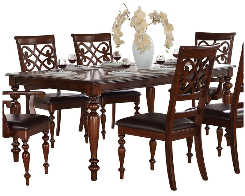 Homelegance Creswell Dining Table in Dark Cherry 5056-78 image