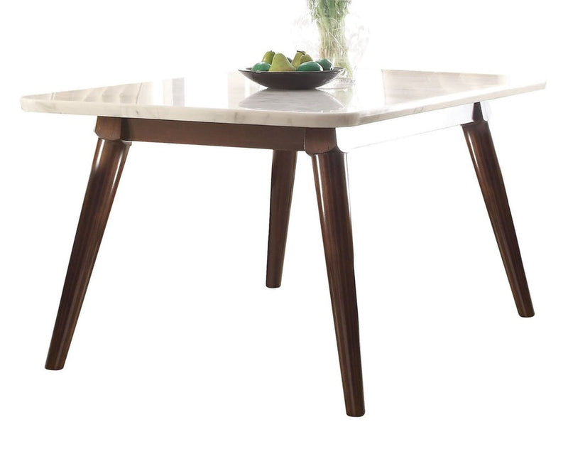 Acme Gasha Dining Table in White/Walnut 72820 image