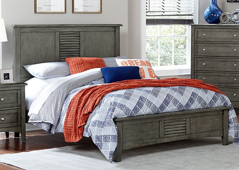 Homelegance Furniture Garcia Twin Panel Bed in Gray 2046T-1 image