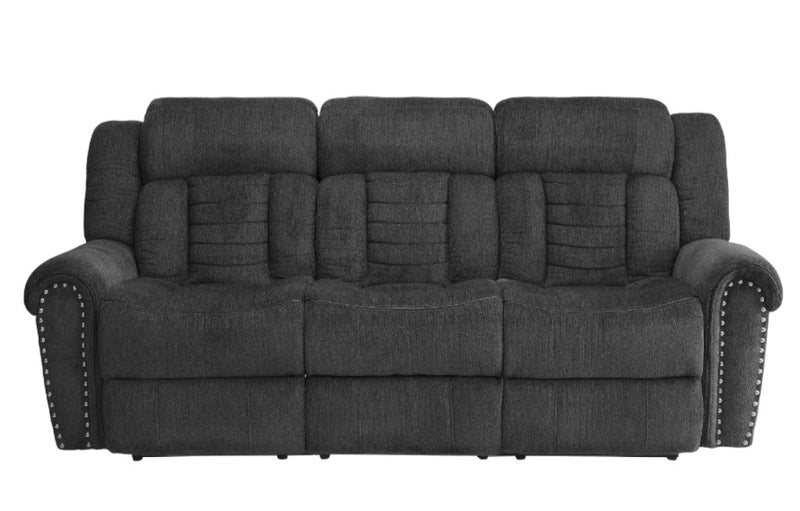 Homelegance Furniture Nutmeg Double Reclining Sofa in Charcoal Gray 9901CC-3 image