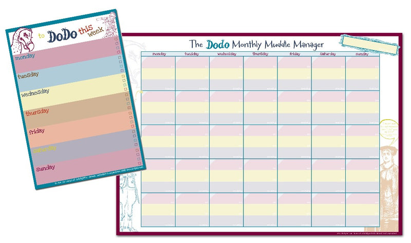 Dodo Monthly Muddle Manager Pad (A3)