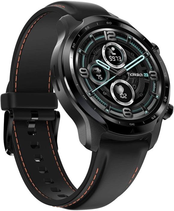 TicWatch Pro 3 GPS I Smartwatch I Google Wear OS I Dual-Layer Display I bis zu 45 Tage Akkubetrieb I Mobvoi