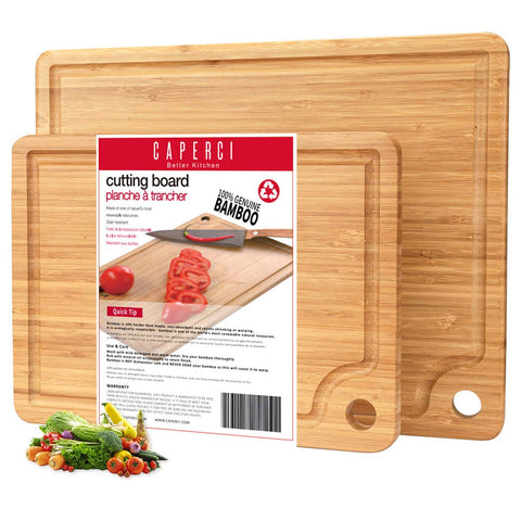 Buy the Organic Bamboo Cutting Board Set - Kitchen Tribe Marketplace