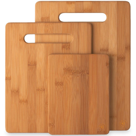 Buy the 3-piece Bamboo Cutting Board Set - Kitchen Tribe Marketplace