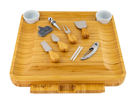 12-piece Cheese Cutting Board With Knives - Kitchen Tribe Marketplace
