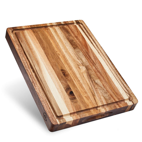 Buy Acacia Wood Extra Large Cutting Board - Kitchen Tribe Marketplace