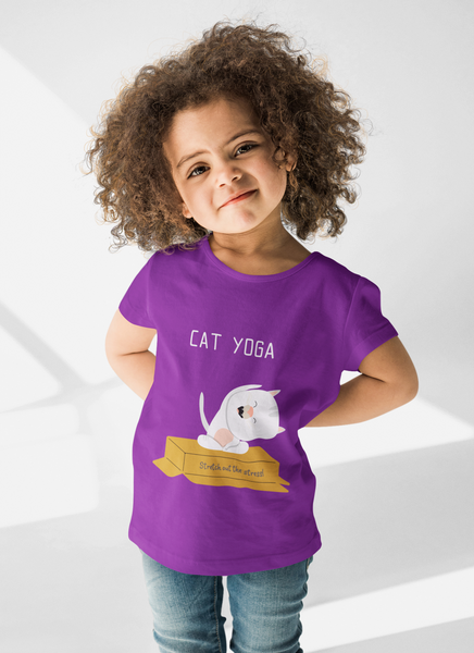 Cat Yoga Kids' Premium T-Shirt