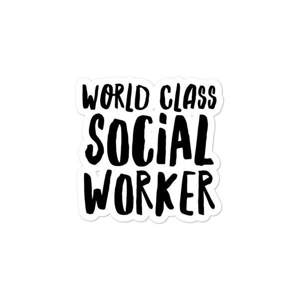 World Class Social Worker Sticker
