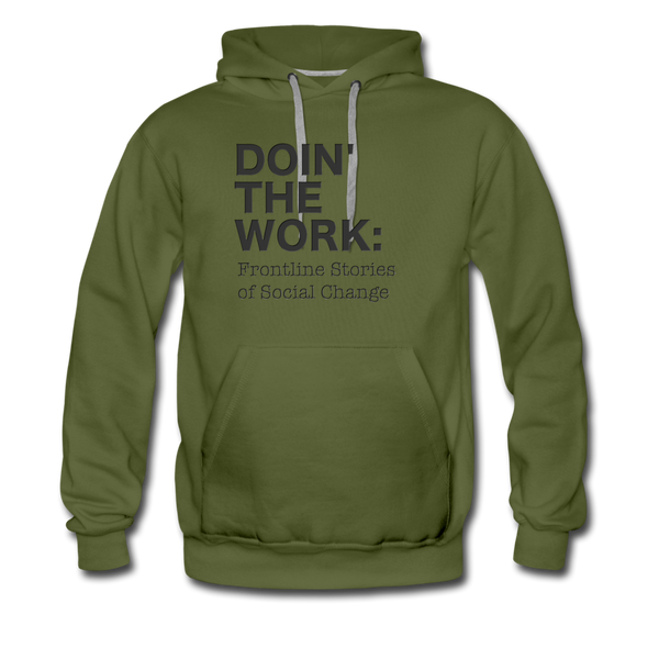 dtw black text Men's Premium Hoodie - olive green