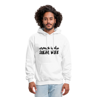 Research is also Social Work:  Men's-Cut Unisex Hoodie - white