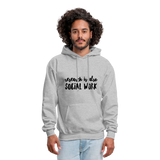 Research is also Social Work:  Men's-Cut Unisex Hoodie - heather gray