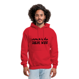 Research is also Social Work:  Men's-Cut Unisex Hoodie - red