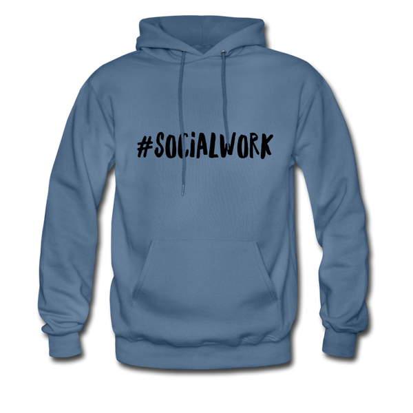 #SOCIALWORK Men's-Cut Unisex Hoodie - denim blue