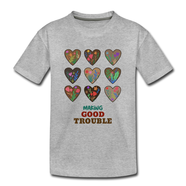 Making Good Trouble Kids' Premium T-Shirt - heather gray