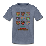 Making Good Trouble Kids' Premium T-Shirt - heather blue