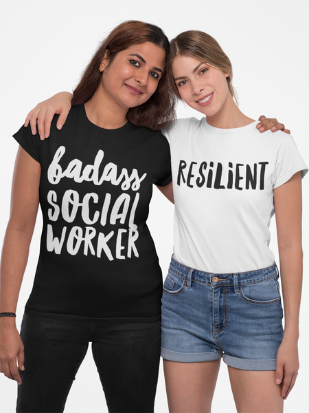Badass Social Worker Women's Cut Premium T-Shirt