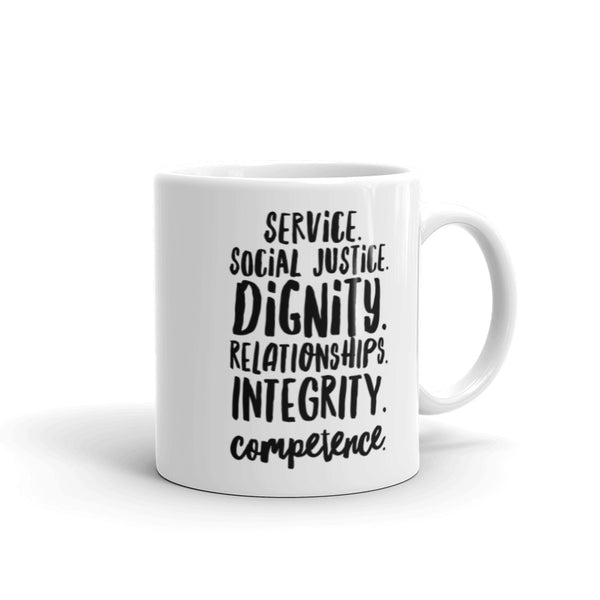 Social Work Values Mug