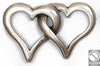 2 hearts pendant 25x39 mm