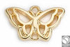 Motif Butterfly with two rings wireframe 18x12 mm