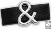 & Ampersand bracelet motif for stripe 12x15 mm, diam. 10 mm