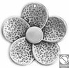 Flower hammered 45x44 mm