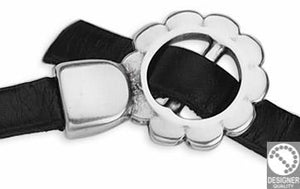 Buckle clasp daisy for 5mm cord 15x22 mm, diam. 5 mm