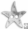 Starfish button two holes 22x19 mm