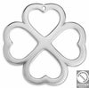 4leaf clover wirefr. pendant 59x59 mm