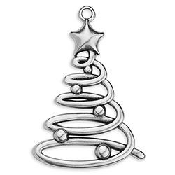 Twirl christmas tree with star pendant 50mm 34 x 50mm