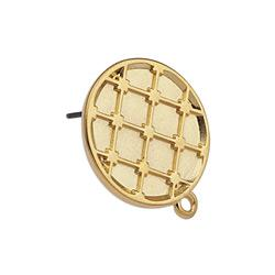 Spanish tile round earring 19mm with ring pin-tit 19 x 21,9mm