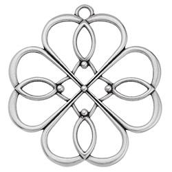Clover Lotus flower 63mm wire pendant - 57.8 x 63mm