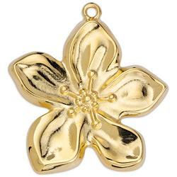 Flower organic pendant 37.1x40.5mm