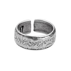 Floral pattern ring 17mm 19.9 x 19.9mm