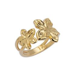 Ring double flowers 17mm 20x14.3mm