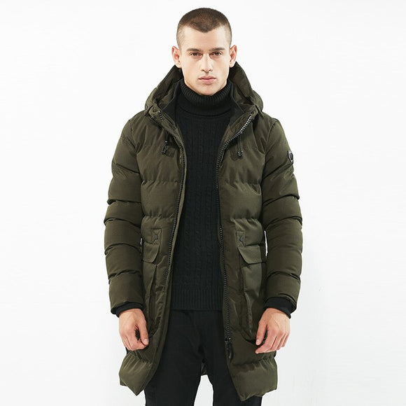 MRMT 2020 Brand New Men's Cotton-padded Jacket Medium and Long Coat Overcoat for Male Cotton-padded Outer Wear Clothing