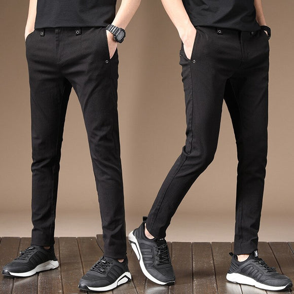 MRMT 2020 Brand Spring Men's Trousers Casual Pants for Male Elastic Small Feet Thin Youth Trouser