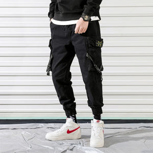 Men Vintage Cargo Pants 2020 Mens Hiphop Khaki Pockets Joggers Pants Male Korean Fashion Sweatpants Winter Overalls