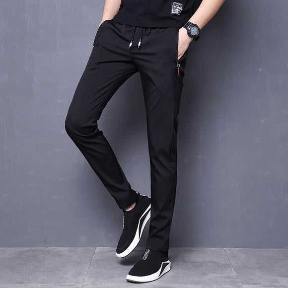 MRMT 2020 Brand Spring and Summer New Men's Trousers Casual  Loose Black Pants for Male Small Feet Slimming Trouser