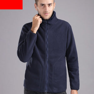 MRMT 2020 Brand Men's Jackets Solid Color Standing Collar Overcoat for Male Short Fleece Jacket Outer Wear Clothing Garment