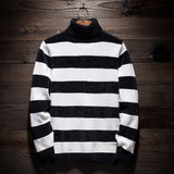 MRMT 2020 Brand Winter Men's Fashion Turtleneck Sweater Stripe Tops Pullover for Male Leisure Sweater